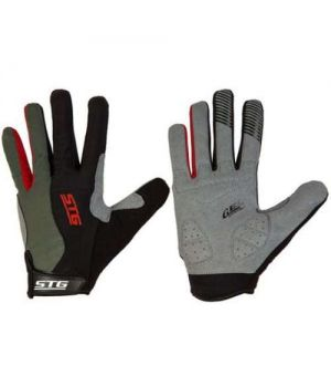 Перчатки STG с длинными пальцами и защитной прокладкой, застежка на липучке (размер S)