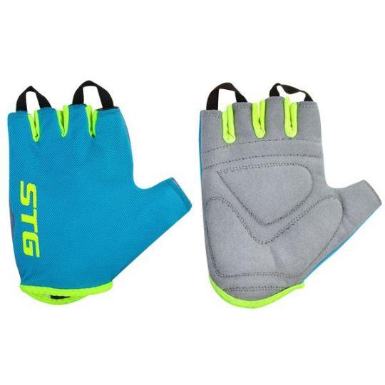 Перчатки STG, AL-03-418, летние, голубые/салатовые (размер L)