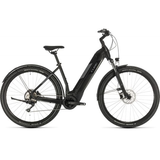 Электровелосипед Cube Nuride Hybrid Pro 500 Allroad black/grey (2020)