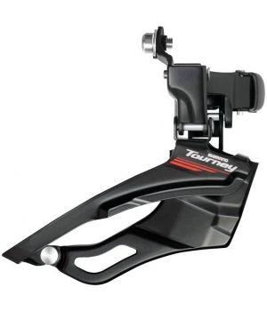 Переключатель передний Shimano Tourney, FD-A073, 3х7 ск, 50T, ниж. тяга, хомут 31, 8-28, 6 мм, L3