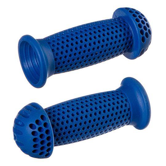 """Грипсы STG GR112 100 мм, синие, """"грибочки"""", для самоката и вело. , инд. уп"""