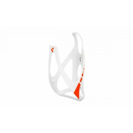 Флягодержатель CUBE BOTTLE CAGE HPP matt white/orange