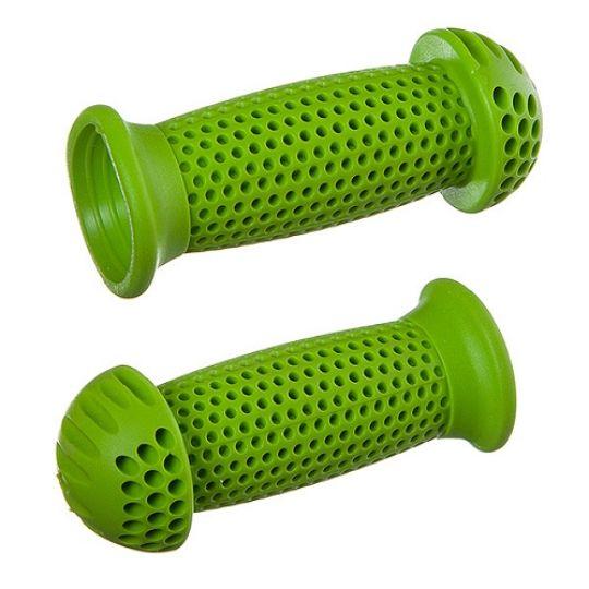 """Грипсы STG GR112 100 мм, зеленые, """"грибочки"""", для самоката и велосипеда"""