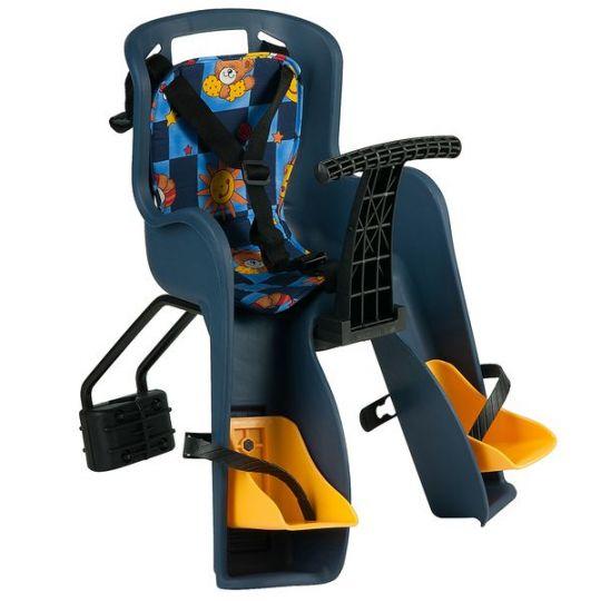 Кресло детское заднее GH-908E синие, с разноцветным текстилем