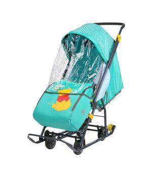 Санки-коляска Disney Baby 1 DB1/2, Винни изумрудный