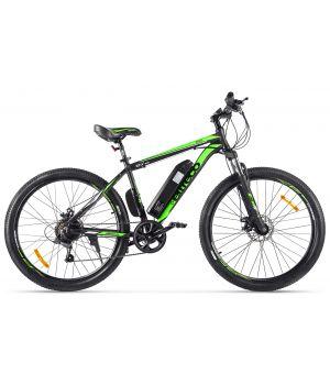 Электровелосипед Eltreco XT600 2021 (черный/зеленый)