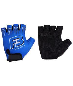 Перчатки STG летние кожа+лайкра, размер M, синие