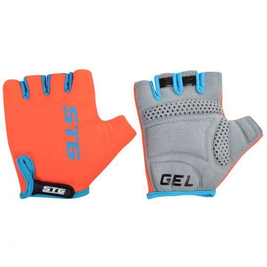 Перчатки STG, AL-03-325 летние, оранжево-черные, на липучке (размер XL)
