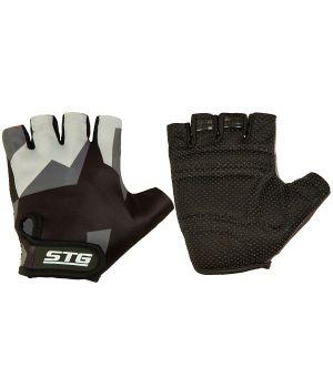 Перчатки STG летние с защитной прокладкой, застежка на липучке, размер L, серо/черные