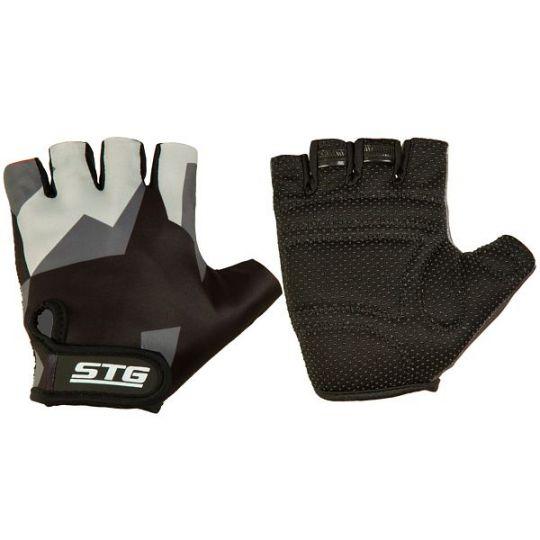 Перчатки STG летние с защитной прокладкой, застежка на липучке, размер М, серо/черные