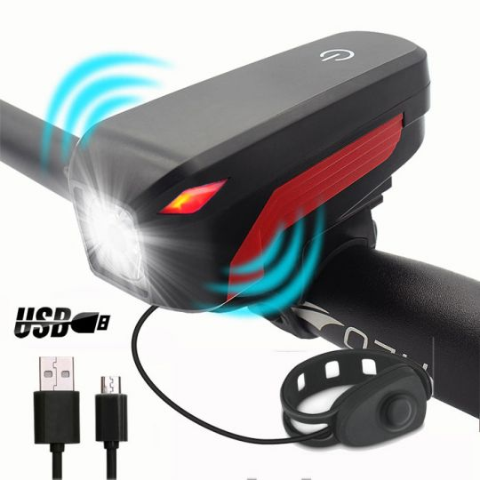 Водонепроницаемый светодиодный фонарь для велосипеда с USB зарядкой