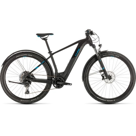 Электровелосипед Cube Reaction Hybrid EX 625 Allroad 29 black/blue (2020)