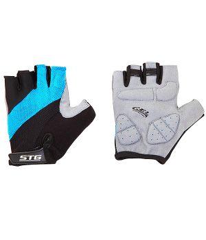 Перчатки STG летние с защитной гелевой прокладкой, застежка на липучке, мат. кожа+лайкра (размер S)
