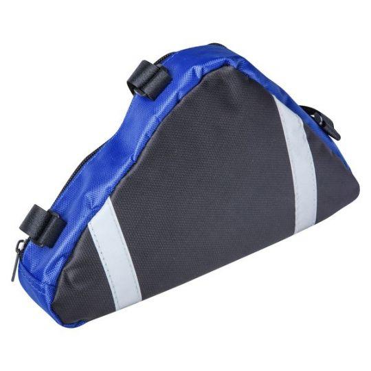 Велосумка под раму, треугольная, черный/синий