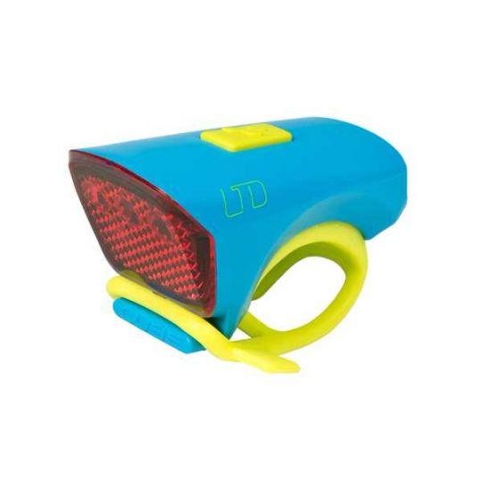 Фонарь велосипедный CUBE, код 13949 blue-n-green