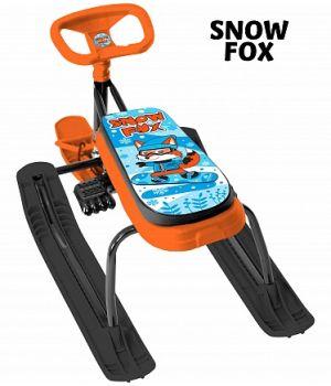 Снегокат Тяни-Толкай с удлиненным сиденьем, с автоматической рулеткой Snow Fox