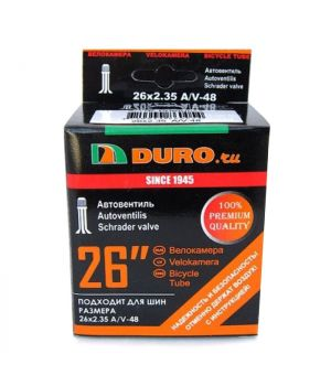 Велокамера 26x2.10/2.35/2.40 A/V-48 (56/60/62-559) DURO