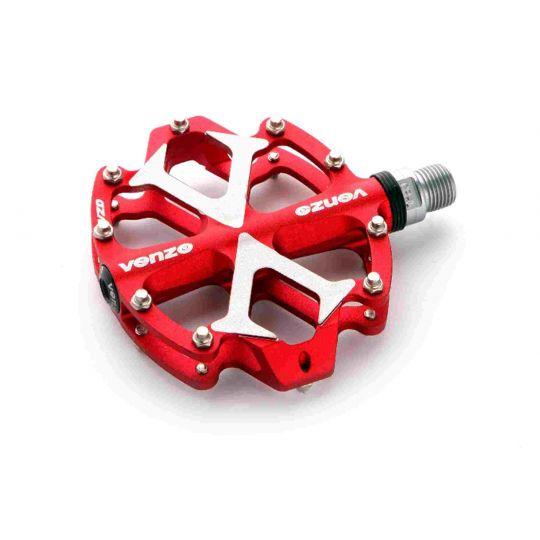 Педали VENZO DH/XC VZ-E02D-003, основа: алюминий 3D CNC ALLOY, ось: CR-MО