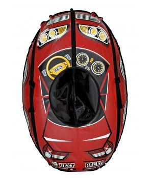 Тюбинг овальный МАШИНКА красная (105*65 см)