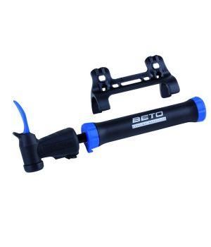 Велонасос BETO, пластик, двойного действия, универсальная головка с иглой для мяча, черно-синий