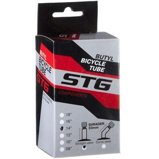 Камера велосипедная STG, бутил, 14Х1,75 , автониппель 33мм