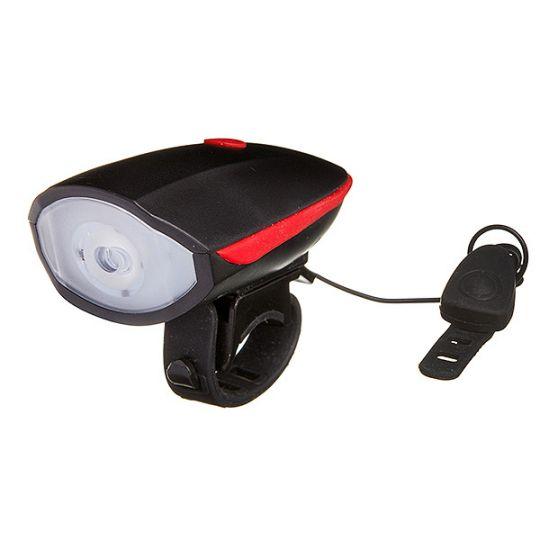 Фонарь STG передний с сигналом FL1544A , 300 люмен, usb, бат. в комл. (1200mAH) кноп. Для гудка. 140 дб.