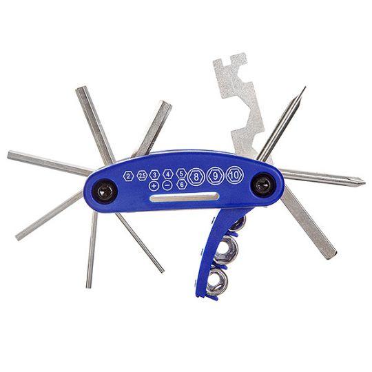 Ключи шестригранные KL-9802B набор складной, 15 в одном