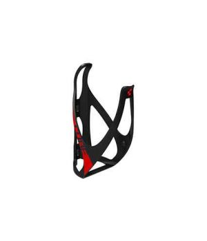 Флягодержатель CUBE Flaschenhalter HPP matt black-n-red, код 13014