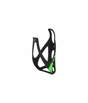 Флягодержатель CUBE BOTTLE CAGE HPP matt black/green