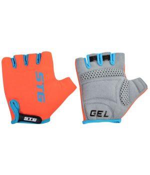 Перчатки STG, AL-03-325 летние, оранжево-черные, на липучке, L