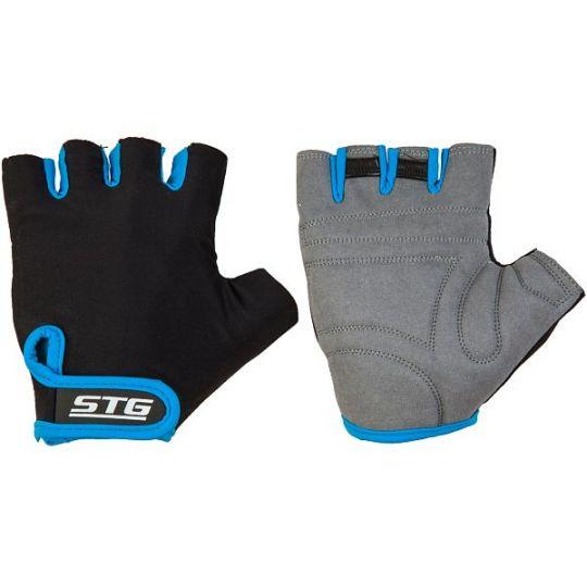 Перчатки STG летние быстросъемные с защитной прокладкой, застежка на липучке