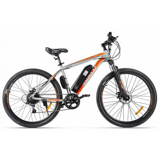 Электровелосипед Eltreco XT600 (2020) серый/оранжевый
