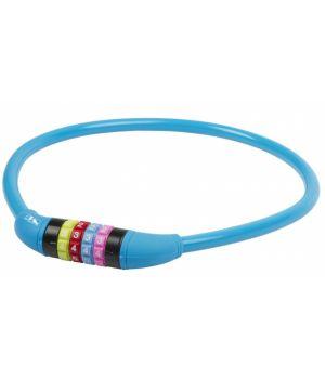 Велозамок кодовый 12х650мм силиконовый синий, M-WAVE