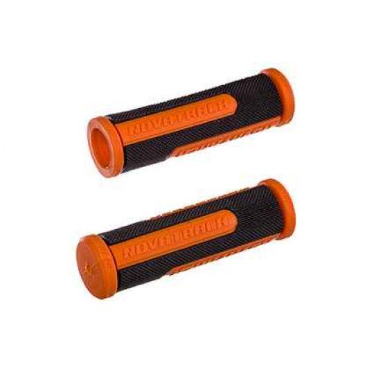 Грипсы Novatrack, 110мм, черно-оранжевый (РТ1585С) Х76785