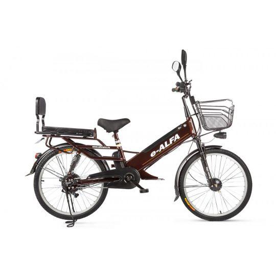 Велогибрид Eltreco e-Alfa GL коричневый