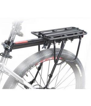 """Багажник 26"""" алюминиевый подседельный с дугами и доп.упорами на перья"""