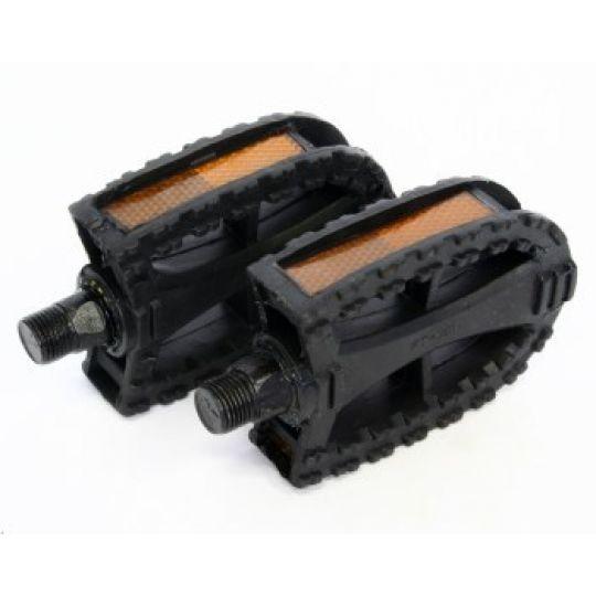 """Педали HF-818, ось 1/2"""", пластик, черные"""