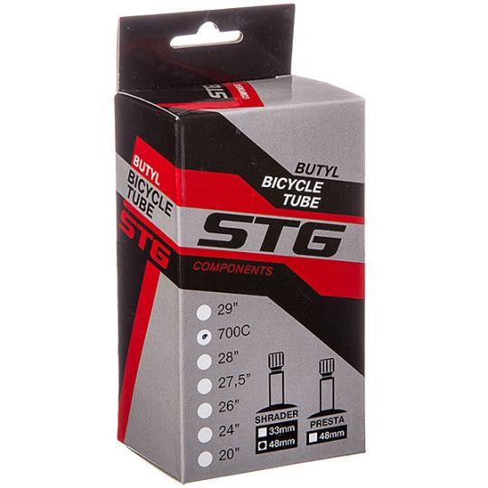 Камера велосипедная STG, бутил, 700*28/35С, велониппель 48мм, в коробке