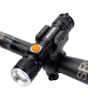 Фонарик светодиодный с зажимом для велосипеда