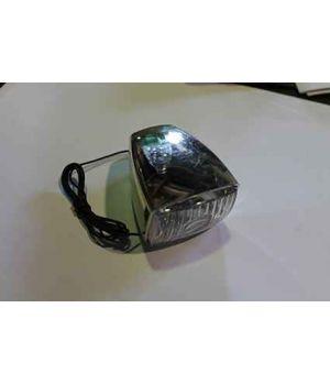 Мигалка музыкальная 6V (хром, с лампочкой) под динамо