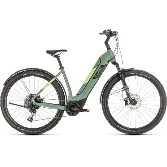 Электровелосипед Cube Nuride Hybrid EXC 625 Allroad green/sharpgreen (2020)