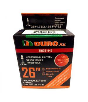 Велокамера 26x1.75/2.125 F/V-52 (47/57-559) DURO