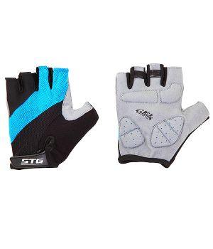 Перчатки STG летние с защитной гелевой прокладкой, застежка на липучке, мат. кожа+лайкра (размер ХL)