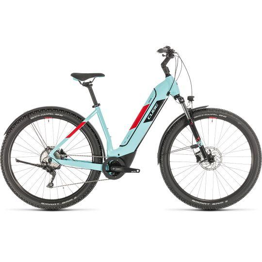 Электровелосипед Cube Nuride Hybrid Pro 500 Allroad glacierblue/red (2020)