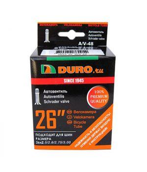 Велокамера 26x2.5/2.6/2.75/3.00 A/V-48 (64/65/68/70-599) DURO