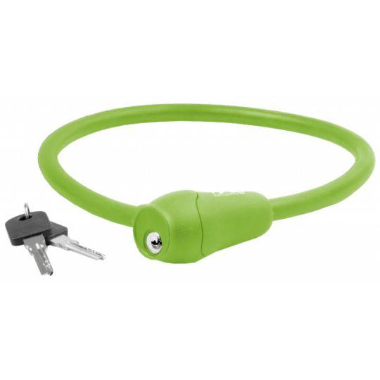 Велозамок 12х600мм силиконовый зеленый M-WAVE