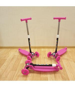Самокат Kaixin toys ярко-розовый