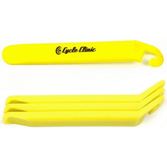 Лопатки монтировочные CC TL4 пластиковые эргономичные с крючками, желтые, AUTHOR