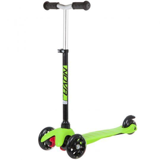 Самокат Novatrack Disco-Kids Basic (черный/зеленый)
