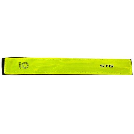 Светоотражатель STG SK-1023 мягкая застежка на липучка, 2 красн. Диода.
